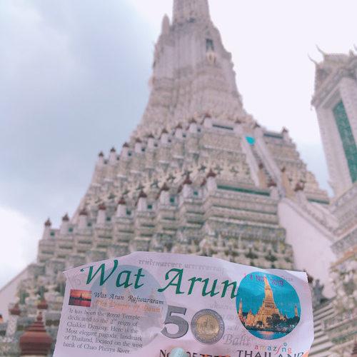 【タイ・バンコク】チャオプラヤ川のほとりに佇む「暁の寺ワット・アルン」はタイの三大寺院のひとつ